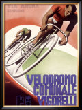 Velodromo Communale Vigorelli Framed Giclee Print by Gino Boccasile