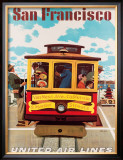 United Airlines: San Francisco, c.1950 Framed Giclee Print by Stan Galli