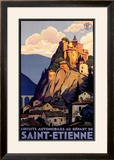 Saint Etienne Framed Giclee Print by Roger Broders