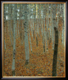 Forest of Beech Trees Prints by Gustav Klimt