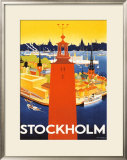 Stockholm Framed Giclee Print by Donner