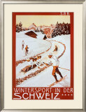 Winter Sport in Der Schweiz Poster by P. Colombi