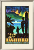 Hanalei Bay North Shore Kauai Framed Giclee Print by Rick Sharp