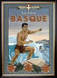 La Cote Basque de Surf Art by Bruno Pozzo