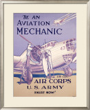 WWII, AAF Army Air Corps Aviation Mechanic Framed Giclee Print