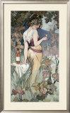 Cognac Template Framed Giclee Print by Alphonse Mucha
