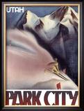 Park City, Utah: Ski Framed Giclee Print