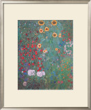 Farm Garden with Sunflowers Posters by Gustav Klimt