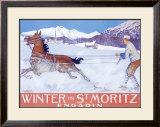Winter in St Moritz Framed Giclee Print