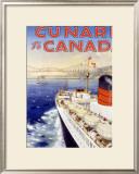 Cunard Line, Canada Framed Giclee Print by Charles Eddowes Turner