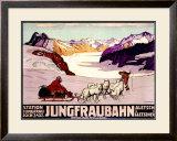 Jungfraubahn Framed Giclee Print by Wilhelm Burger