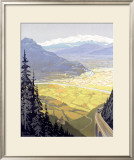 Grenoble, French Alps Ski Resort Framed Giclee Print