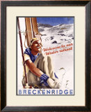 Breckenridge: Welcome to our Winter Retreat Framed Giclee Print