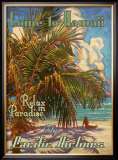 Relax in Hawaii Pacific Airlines Framed Giclee Print by Rick Sharp