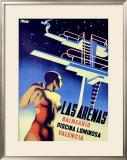 Las Arenas Framed Giclee Print by Josep Renau Montoro