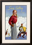 Sun Valley, Idaho Framed Giclee Print