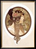 Byzantine Brunette, 1897 Framed Giclee Print by Alphonse Mucha
