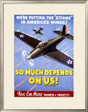 WWII, So Much Depends on Us! Framed Giclee Print