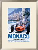 Grand Prix Monaco, 30 Mai 1965 Framed Giclee Print