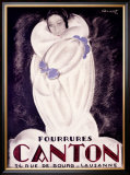 Fourrures Canton, 1924 Framed Giclee Print by Charles Loupot