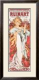 Mucha Champagne Ruinart Poster Framed Giclee Print by Alphonse Mucha