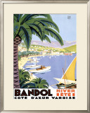 Bandol Framed Giclee Print by Roger Broders