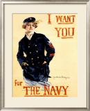 WWII, Navy Recruit Framed Giclee Print