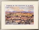 Cite de Carcassone Framed Giclee Print by Eugene Grasset