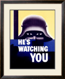 He's Watching You Framed Giclee Print by Glenn Grohe