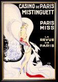 Casino de Paris, Mistinguett Framed Giclee Print