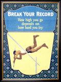 Break Your Record Framed Giclee Print