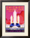 1933 Chicago World&#39;s Fair Framed Giclee Print by Pursell 