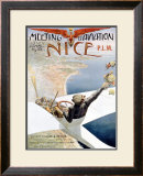 Meeting Aviation Framed Giclee Print by Charles Leonce Brosse