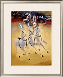 Paul Colin Circus Horse Framed Giclee Print by Paul Colin