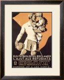 Spanish Futbolistes Framed Giclee Print