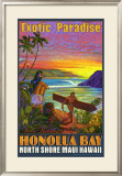 Hawaii, Honolua Bay, Maui Framed Giclee Print by Rick Sharp