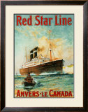 Red Star Line, Anvers to Canada Posters