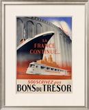 Bons du Tresor Framed Giclee Print by Robert Falcucci