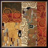 Deco Collage Detail (from Fulfillment, Stoclet Frieze) Poster by Gustav Klimt