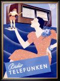Telefunken Radio, c.1938 Framed Giclee Print
