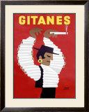 Gitanes Cigarettes Framed Giclee Print by Herve Morvan