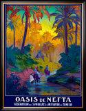 Oasis de Nefta Framed Giclee Print by Jacques de la Neziere
