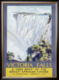 Cunard Line, Victoria Falls, 1931 Framed Giclee Print by W. G. Bevington