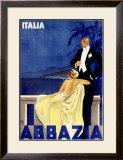 Abbazia Framed Giclee Print by W. Zalina
