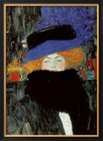 Lady with Hat and Feather Boa Poster by Gustav Klimt