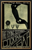 The Flying Scotsman's Cocktail Bar Framed Giclee Print by Lorrie Beck