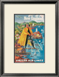 United Airlines, New England Prints by Joseph Feher