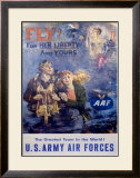 WWII, Fly! Framed Giclee Print