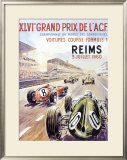 Reims F1 French Grand Prix, c.1960 Framed Giclee Print