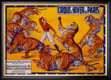 Dompteurs de Tigres, Cirque d'Hiver Framed Giclee Print by G. Soury